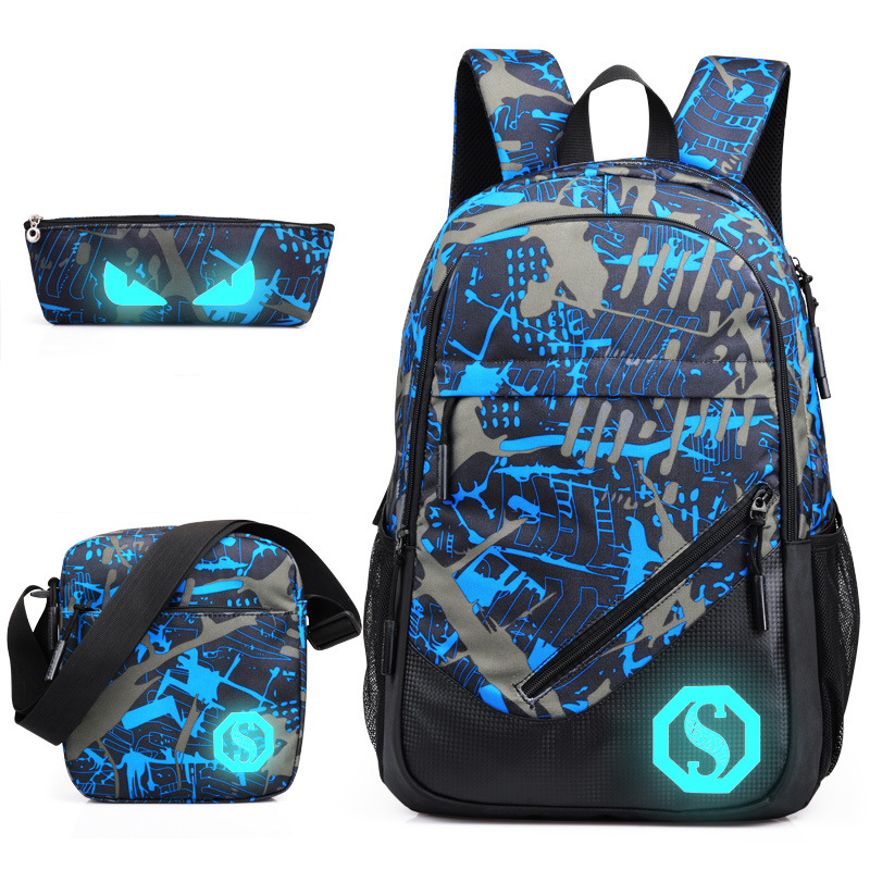 School Backpack Men Women For Teenagers 2018 Oxford Fashion Laptop Men's Backpacks Backpack Male Bolsa Mochila Luminous Zipper namvitae fashion school men backpack student laptop backpacks for teenagers oxford male mochila casual daypack bag dropshipping