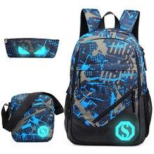 Школьный рюкзак для мальчиков для женщин подростков 2018 Оксфорд Мода ноутбук Мужчин's рюкзаки рюкзак мужской Bolsa Mochila Световой молния