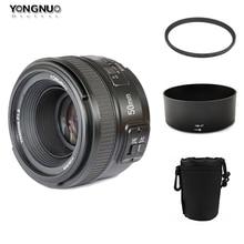 YONGNUO YN 50mm YN50mm f/1.8 AF Lens + Lens Hood+ 58mm UV Filter +Case Set Auto Focus for