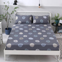1Pcs Quality Fitted Sheet Deep 25cm Mattress Cover Printing Bedding Linens Bed Sheets With Elastic 120*200/150*200/180*200cm