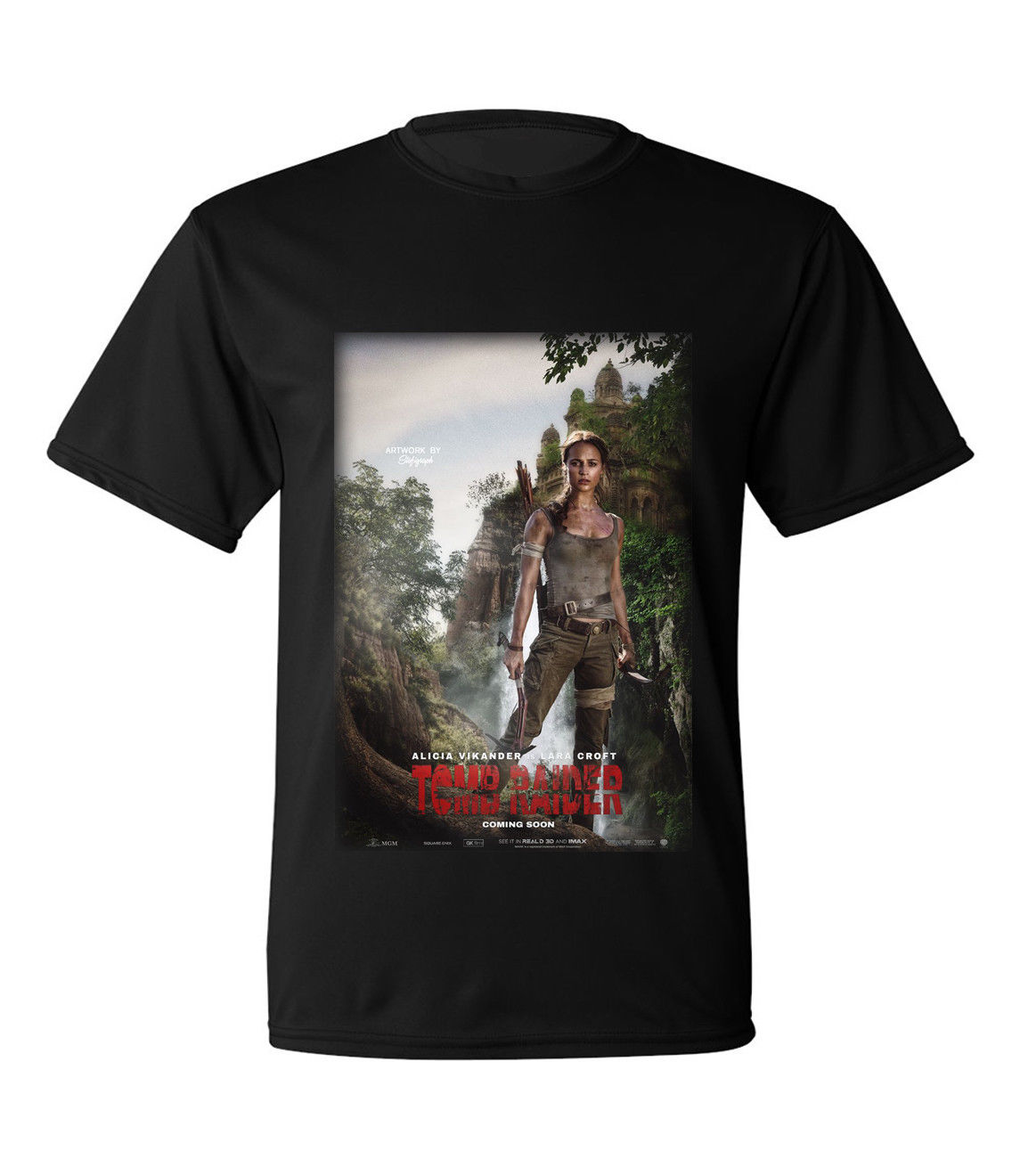 New Tomb Raider 2018 Movie Black T-shirt size S to 3XL O-Neck Hipster T shirts