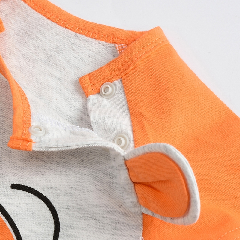 Niedźwiedź bawełniany Śpioszki dla niemowląt wokół szyi - Odzież dla niemowląt - Zdjęcie 5
