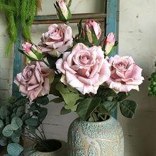 Новые Красивые розы ветка Флер шелковые искусственные Свадебные Цветы Роза для украшения Искусственные цветы поддельные цветы искусственные цветы новогодние украшения для поделок декор для дома скрапбукинг цветы