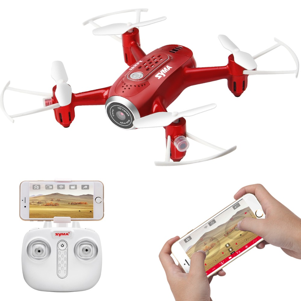 Oficial X22W SYMA RC Helicóptero Zangão Quadcopter FPV Câmera Wi-fi Em Tempo Real de Transmissão de Modo Headless Função Pairar Drones