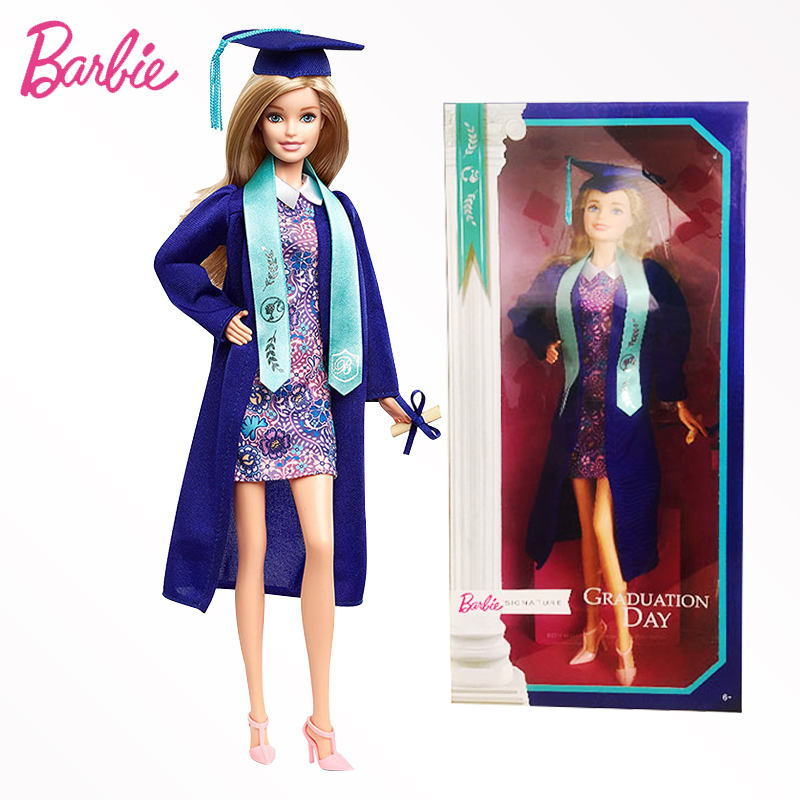 Original Barbie Doll Brand Collectible Doll Celebrity Signature Graduation Day Toy Girl Birthday Present Girl Toys Gift Boneca barbie original brand holiday ethnic collectible barbie doll princess toy girl birthday present girl toys gift boneca drd25