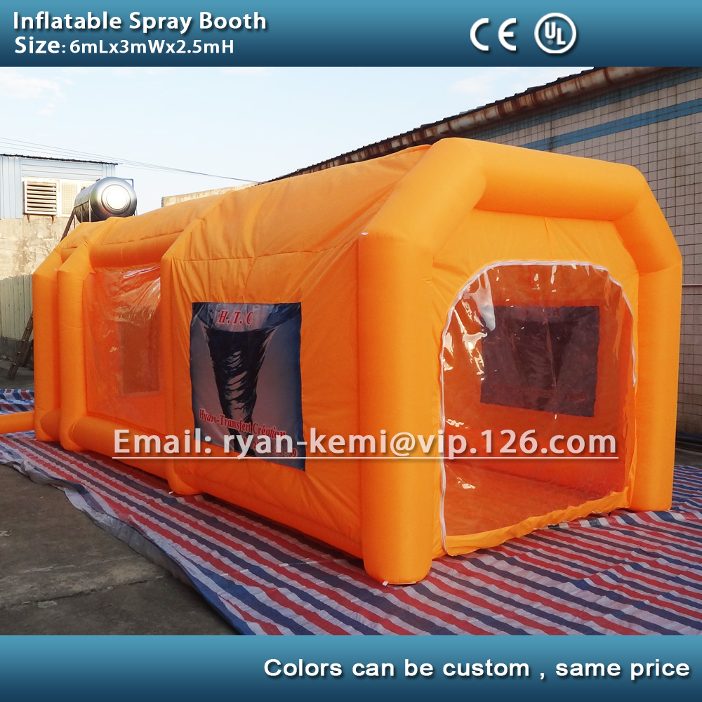 Color booth online - Free Shipping 6m Custom Color Inflatable Spray Booth Inflatable Car Spray Booth Inflatable Paint Booth Tent