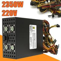 Mining Full Module Output Rated 2350W 220V Power Supply High Efficiency With 8 CPU Fit For