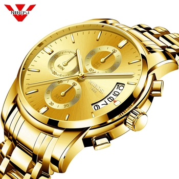 NIBOSI Gold Watch Men Gift Montre Homme Quartz Watches Mens Top Brand Luxury Waterproof Sport Clock Relogio Masculino Saat