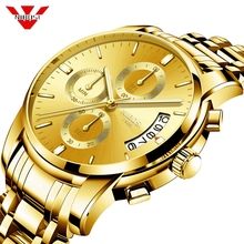 NIBOSI Gold Watch Men Gift Montre Homme Quartz Watc