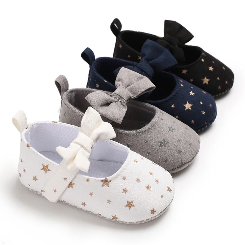 Baby Girls Shoes First Walkers For Newborn Autumn Soft Sole Non-Slip Infant Bowknot Princess Shoes Sneakers