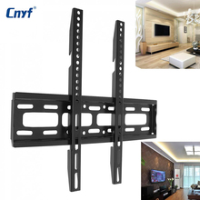 Universal TV Wall Mount Mounts Bracket Fixed Flat Panel TV Frame with Level Instrument for 26-65 Inch LCD LED Monitor Flat Panel