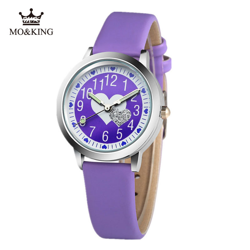 2019 Brand Children's Watch Little Boys And Girls Pink Love Luminous Jelly Leather Watch Kids Students Gift Clock Reloj Baby