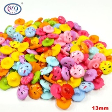 HL 13MM Apple Shank Plastic Buttons 30/50/100PCS Children's Clothing Sewing Accessories DIY Crafts hl 18x15mm 50 100pcs mix color fish shank plastic buttons children s garment sewing accessories diy crafts