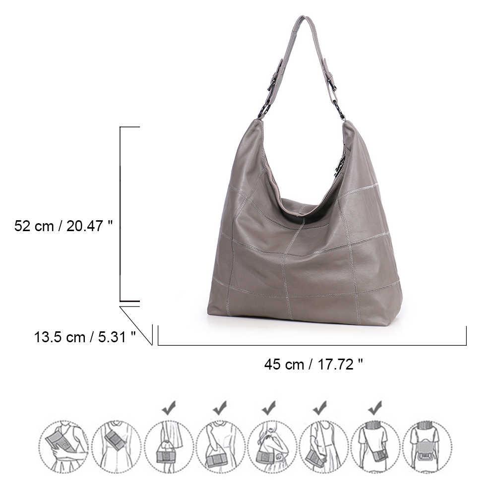 Женская сумка на плечо, из натуральной кожи, с полумесяцем, на молнии, 2018