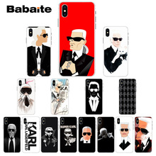 Babaite Karl Lagerfeld Transparent High Quality Silicone Soft TPU Phone Case for iPhone 5 5Sx 6 7 7plus 8 8Plus X XS MAX XR