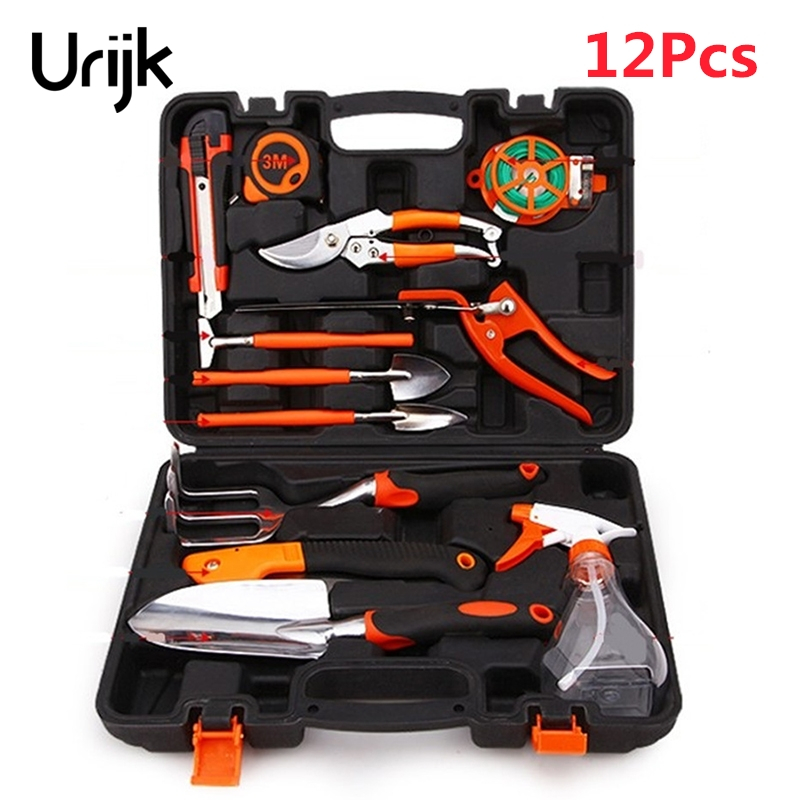 Urijk 12pcs household gardening tools set kit aluminium for Quality garden hand tools