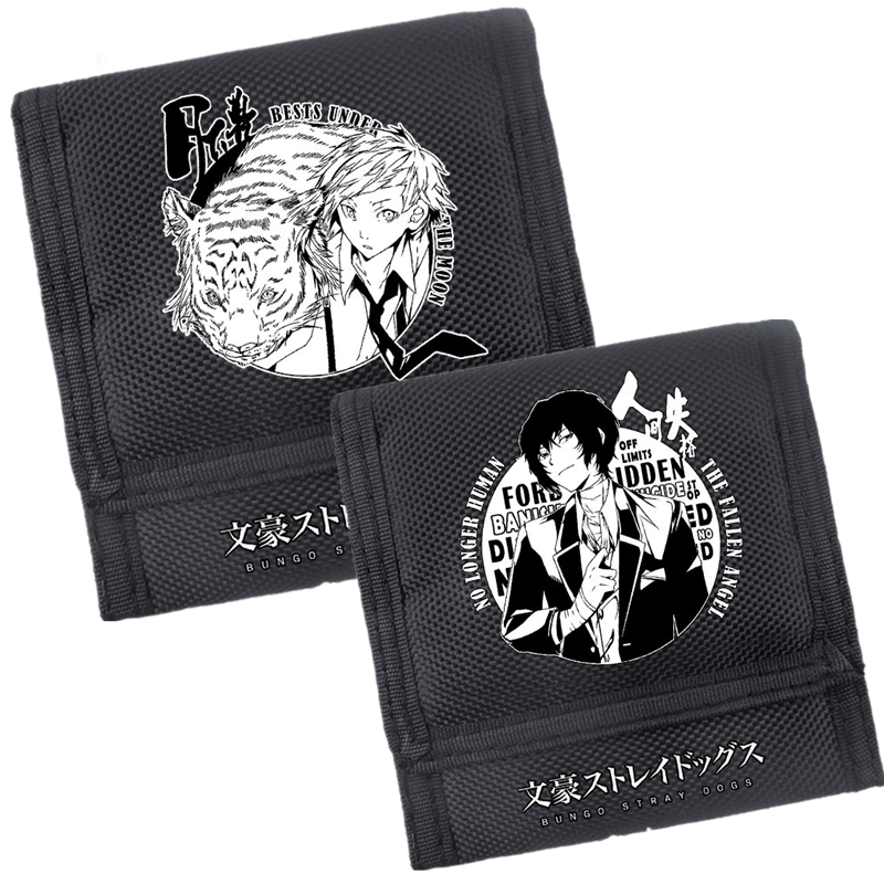 Bungo Stray Dogs Atsushi Nakajima Cospaly Men Short Wallet Nylon Women Coin Purse Anime Card Holder School Feminina Carteira