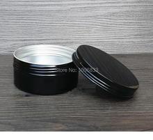 150g Black Aluminum Pot 100ML Black Metal Cans Aromatherapy Jar Aroma Essential Oil Box Cosmetic Aluminium Container, 24pcs/lot