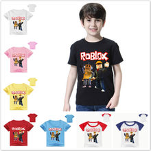 Summer Roblox Boys T Shirt Children Cotton Cartoon Red Nose Day Printed Short Sleeve T-Shirts Kids Girls Tops T Shirt Tees 2-12T(China)