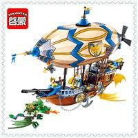 ENLIGHTEN 2316 669Pcs Castle Knights Hawk Balloon Building Block Figure Toys Gift For Children Compatible Legoe