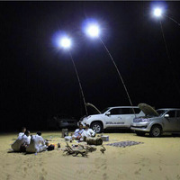 12V Telescopic LED Fishing Rod Outdoor Lantern Camping Lamp Lights White With IR Remote