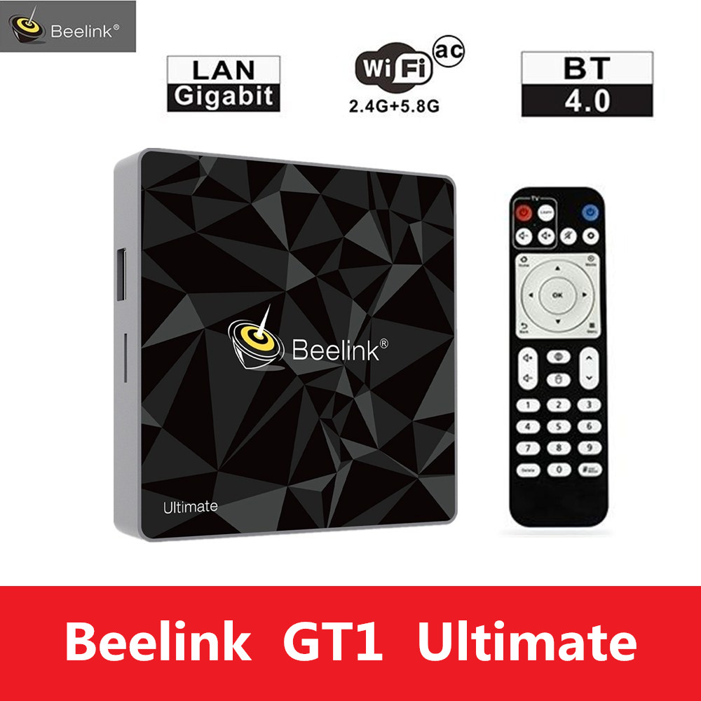 Beelink GT1 FINAL TV Box 3G 32G Amlogic S912 Octa Core CPU DDR4 2,4g + 5,8g Dual WiFi Android 7,1 Unidades Top Box Media Player