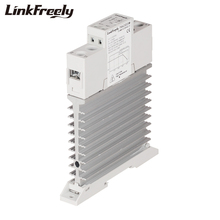 TRA23D25M 25A Heat Sink SSR Solid State Relay Din Rail 3V 5V 12V 24V 32VDC Input 24-280VAC Output Electric Voltage Control Relay