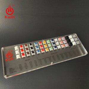 Image 4 - Kailh ボックス 45 キー機械式キーボードスイッチテスター半透明クリア Kailh MX サンプラー用キーキャップキャップテストツール