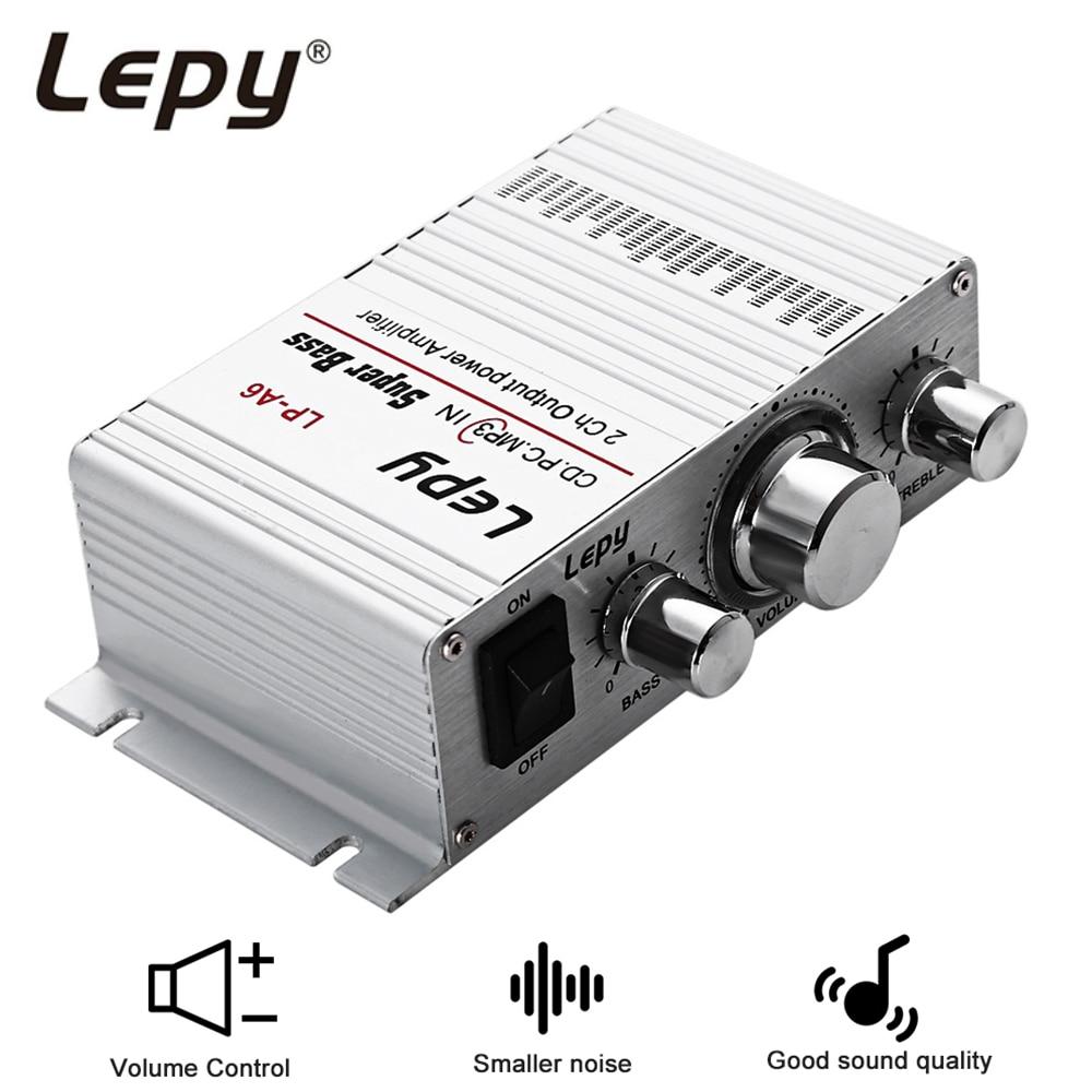 Lepy LP-A6 Mini 2 Channal Hi-Fi Stereo Audio Amplifier Car Home Output Power Volume Control Speaker for Mobile phone MP3 MP4 PC