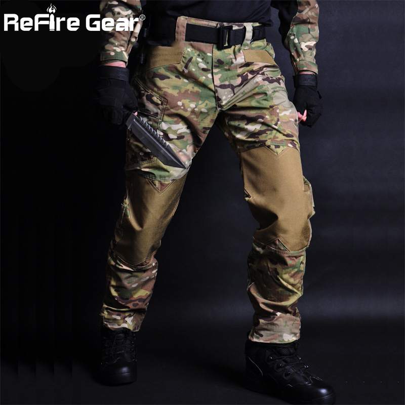 Trousers Cargo-Pant Jogger Military Multi-Pockets Combat Army Waterproof Camouflage Wear title=