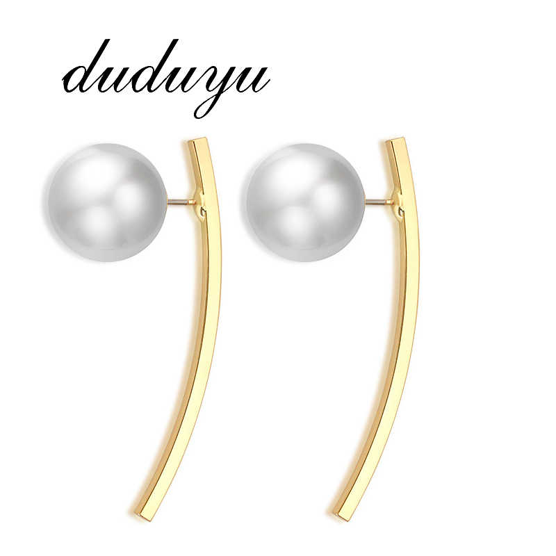 2019 New Stainless Steel Stud Earrings for Women Personalized Punk Imitation Pearls Female Ear Jewelry Gift Whoelsale brincos