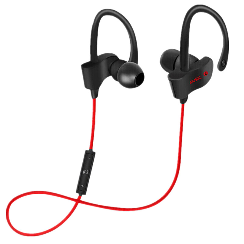Sport In-Ear Bluetooth Earphone Stereo Earbuds Headset Bass Earphones Ear Hook Wireless Headphone With Mic For IPhone 7 Samsung sports bluetooth earphone 4 1 stereo earbuds wireless headset bass earphones with mic in ear for iphone 7 samsung xiaomi