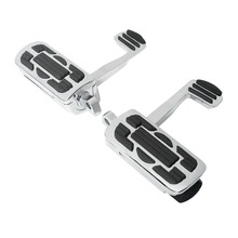 10mm Rider Rear Footrest Footpegs pedals Fit For Harley Sportster Street Electra Road Glide Dyna xl883 1200