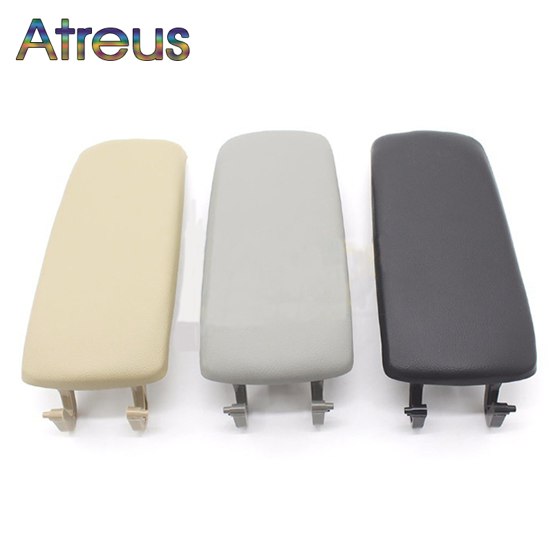Atreus 1pcs Leather Car Styling Center Console Armrest Cover Stickers For Audi A6 C5 Accessories 1999