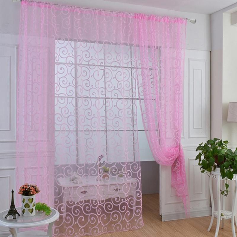 Modern Window Curtain With Flower Design: European Style Jacquard Design Home Decoration Modern