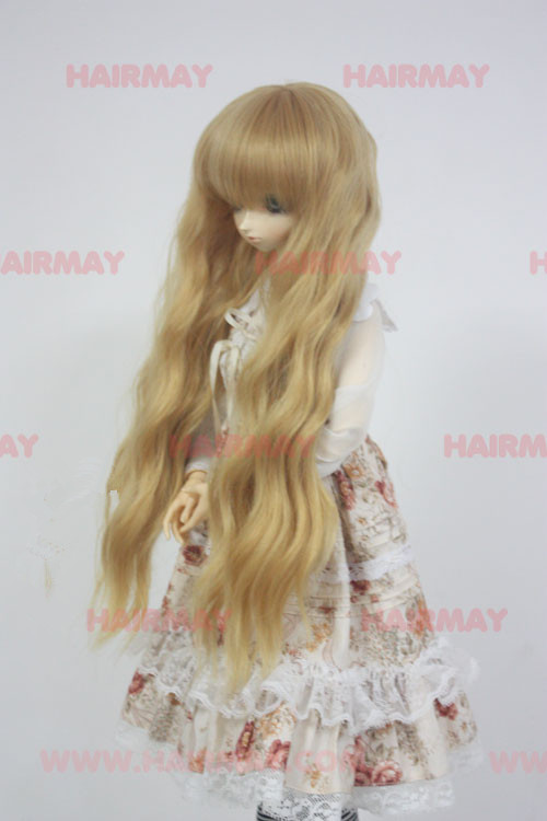 8-9 BJD long  wig gold princess volume wig - high temperature wire
