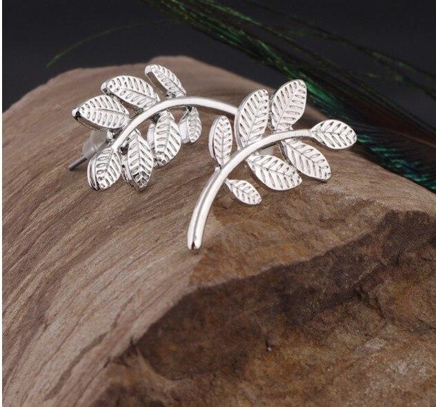 New Stud Earrings Girls Bijoux Leaves Stud Earrings For Women Jewelry Accessoreis Leaf Earrings Leaf Earings Wholesale
