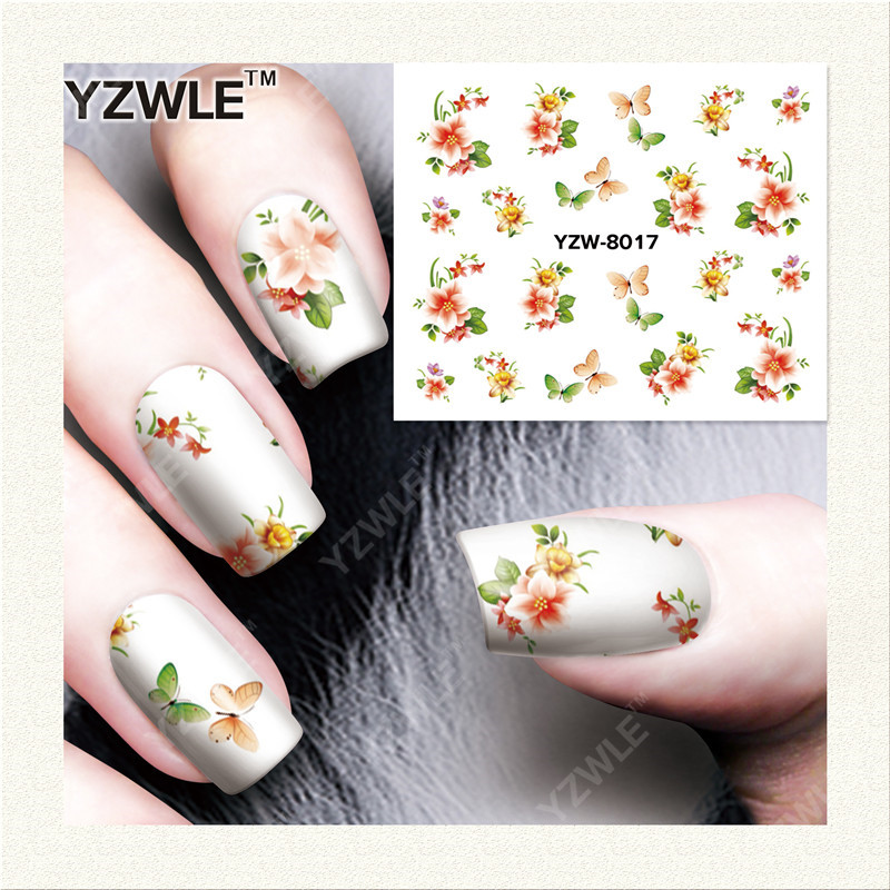 YWK  1 Sheet DIY Designer Water Transfer Nails Art Sticker / Nail Water Decals / Nail Stickers Accessories (YZW-8017)