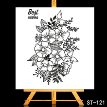 ZhuoAng Flowers and green leaves Transparent Clear Stamp DIY Scrapbooking Album Card Making Decoration