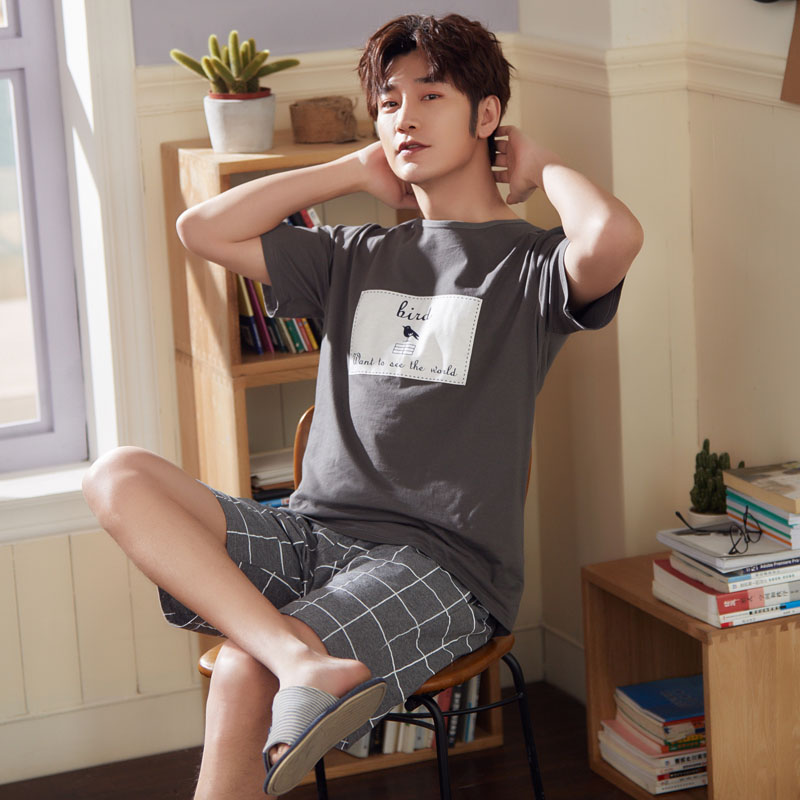 Short-Pants Pajamas House-Wear Cotton Men's Summer Spring MNJ 6535 Relaxing New-Style