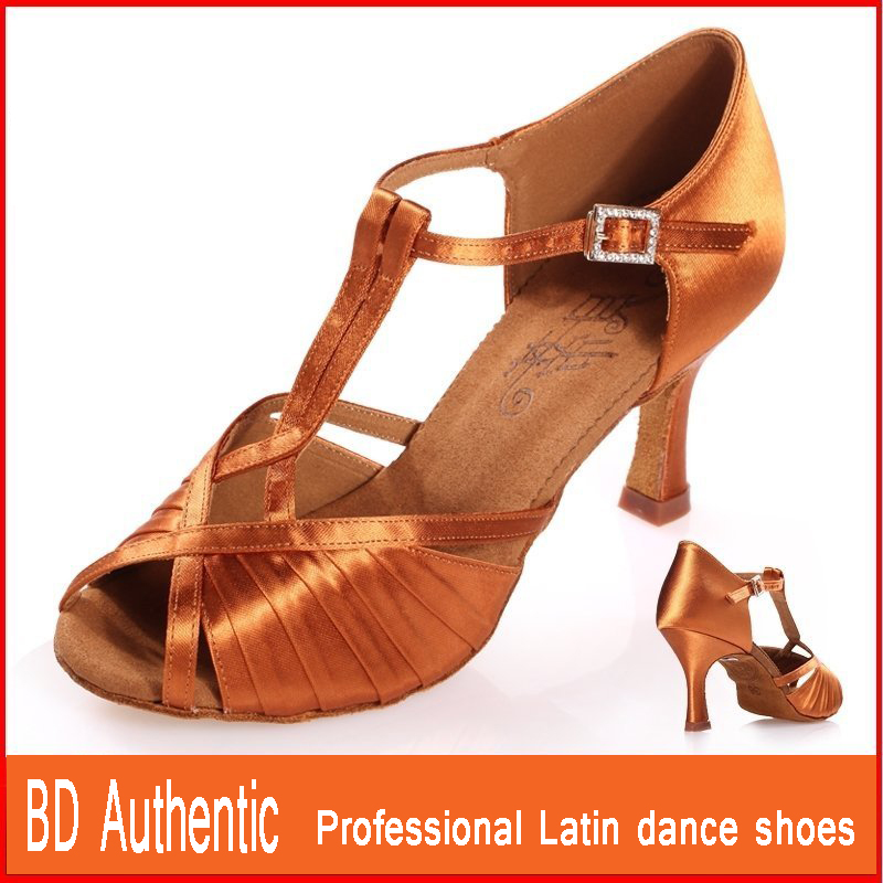 BD shoes Genuine Women Latin shoes Soft bottom Allroom dancing Women Dance shoes Imported satin custom style New shoe BD2392 Hot [100%] the new imported genuine 6mbp50rh060 01 6mbp50rta060 01 billing