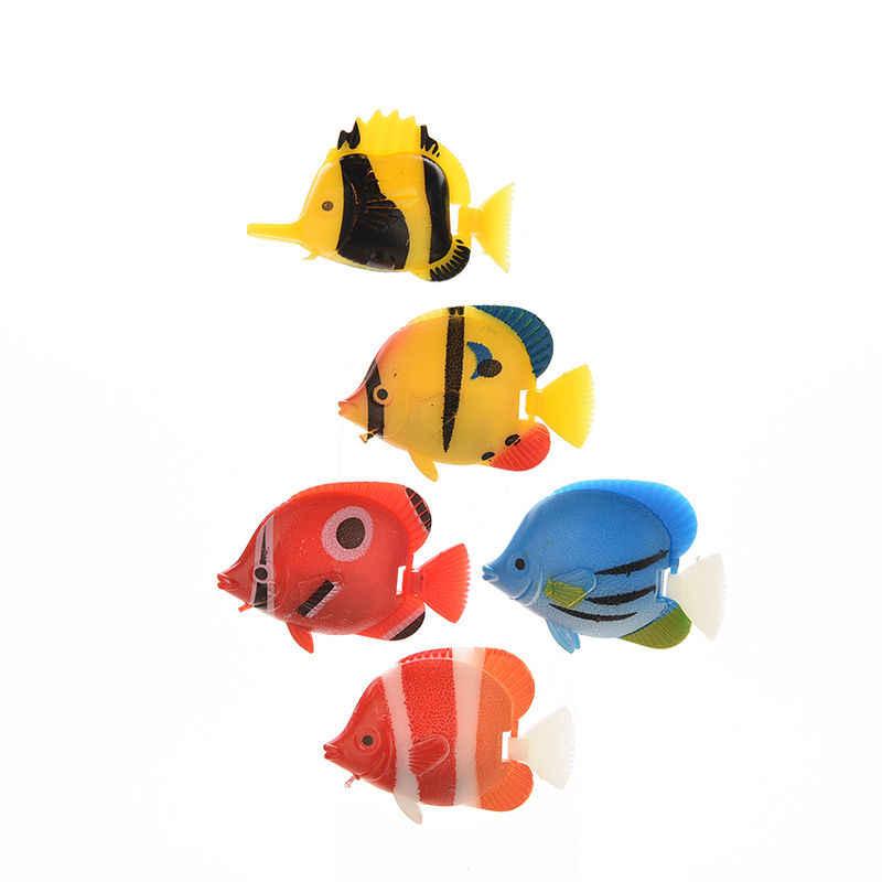1 adet akvaryum yapay sahte balık Florating hareketli balık tankı oyuncakları akvaryum dekorasyon süs