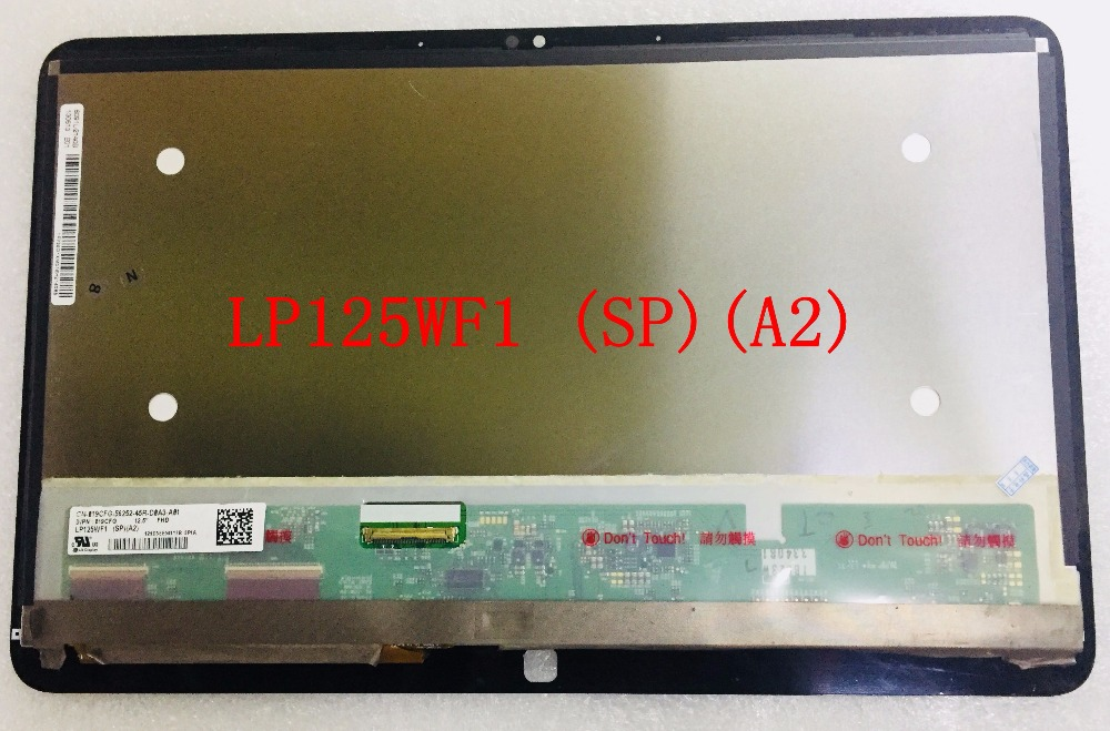 original new 12.5 inch LP125WF1 SP A2 A3 For XPS 12 9Q23 LCD Display with Touch lp125wf1 spa2 lp125wf1 sp a4 lcd screen for dell xps 12 xps12 panel with touch digitizer touch screen brand new