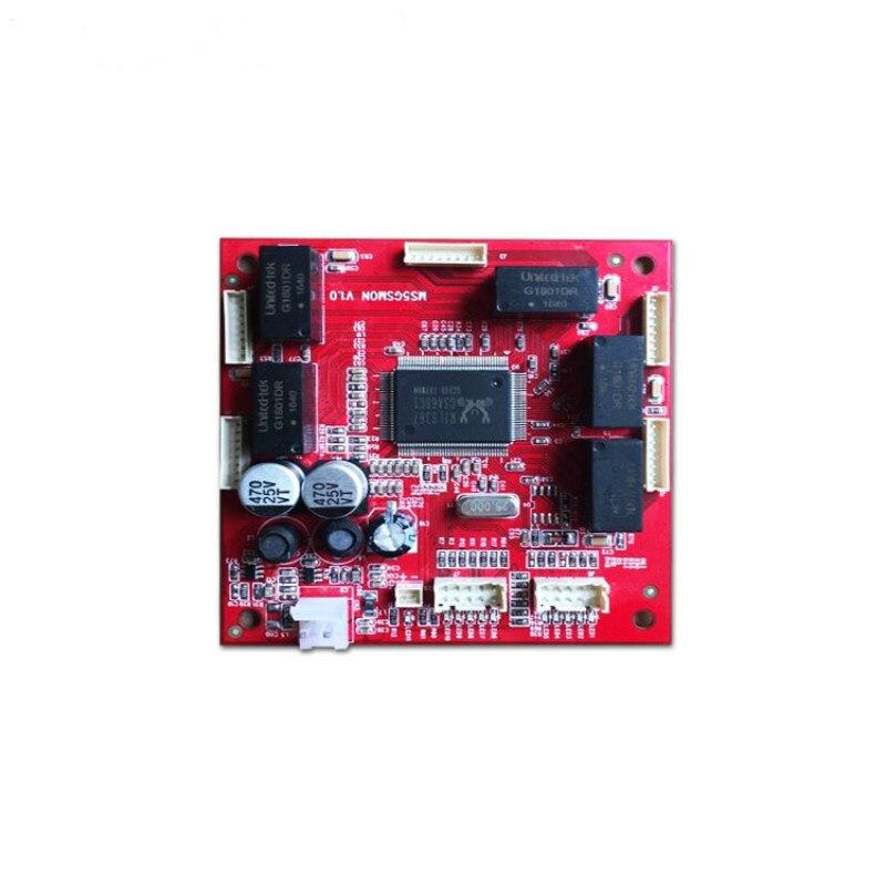 OEM/ODM 5 ports 10/100/1000M gigabit ethernet switchMini size 78*78mm Gigabit Unmanaged 5 rj45 ports industrial switch module