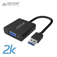Qicent USB 3 0 Male To VGA Female Multi Monitor External Video Card Adapter For PC
