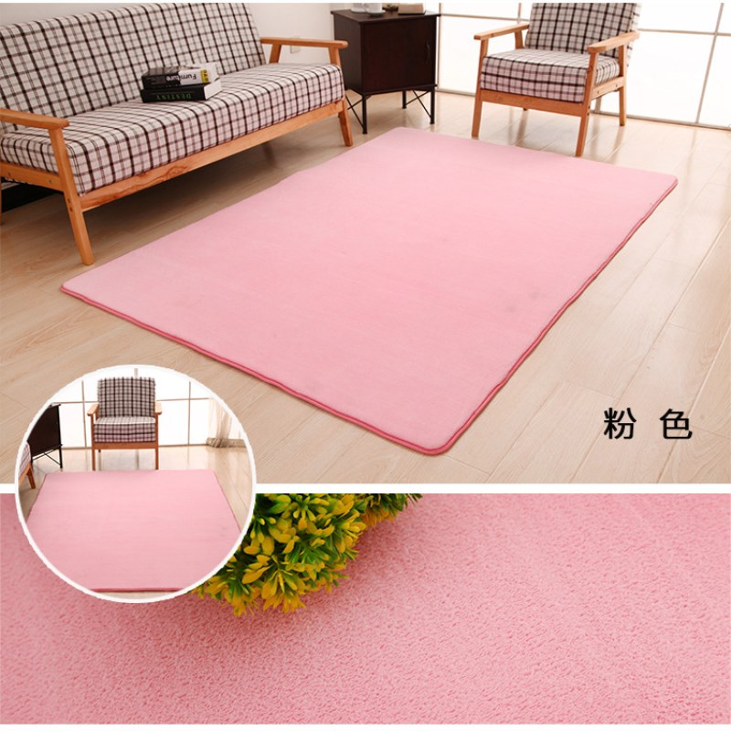 solid color 40cm * 60cm lounge area coral velvet soft thicken memory - Home Textile - Photo 2
