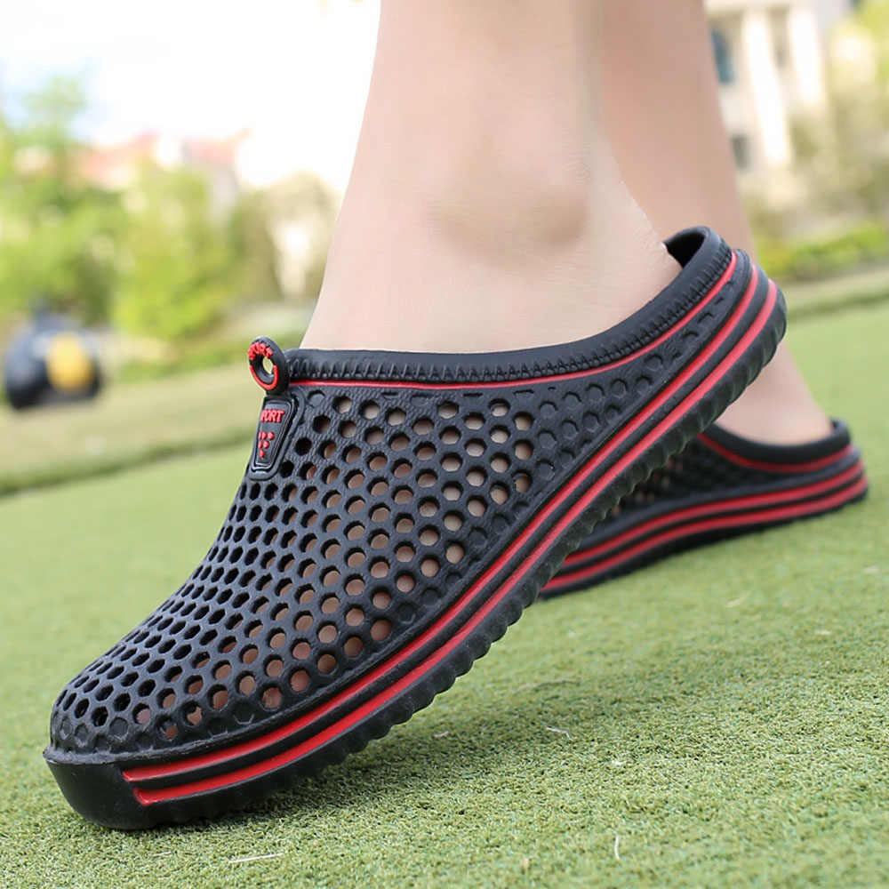 2018 Mannen Schoenen Strand Toevallige mannen Slippers Unisex Hollow out Casual Paar Strand Sandaal Slippers Schoenen Non- slide Mannelijke Slippers