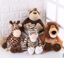 candice guo Nici plush toy stuffed doll jungle forest animal lion tiger monkey giraffe birthday Christmas gift free shipping 1pc