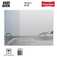 Souria 22 inch Magic Vanishing Mirror Waterproof Bathroom TV Shower LED TV HD Vanishing IP66 Hotel Television