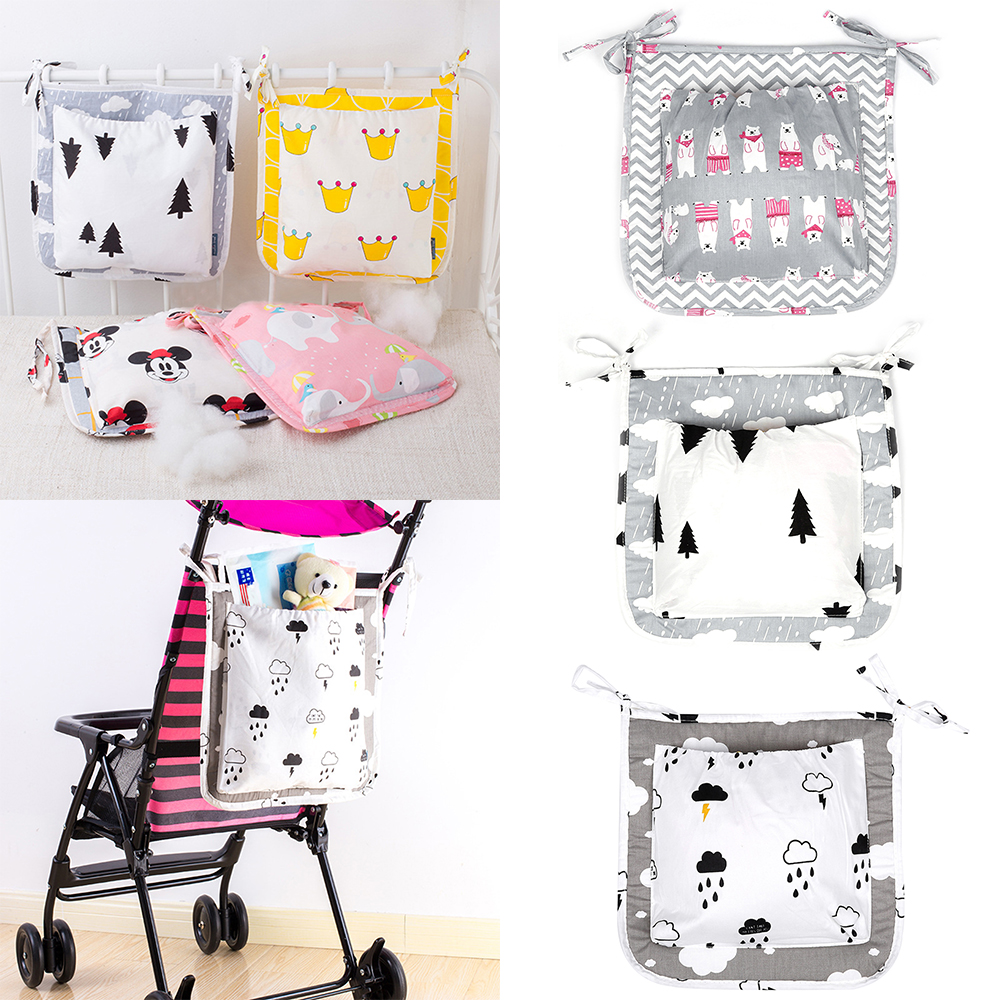 Fashion Mummy Diaper Bag Stroller Baby Nappy Bag Baby Care Baby Bed Hanging Bag Diaper Bag Drop Shipping